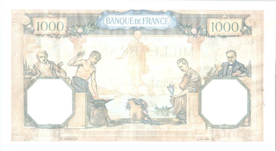 France 1000 Francs Cérès et Mercure - 02-06-1938 Série A.3358