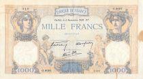 France 1000 Francs Cérès et Mercure - 02-11-1939 Série O.8091 - TB+
