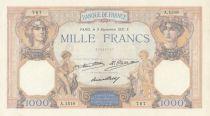 France 1000 Francs Cérès et Mercure - 03-09-1931 Série A.1518 - SUP+