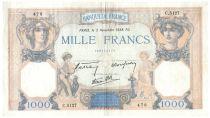 France 1000 Francs Cérès et Mercure - 03-11-1938 Série C.5127 - TTB