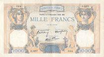 France 1000 Francs Cérès et Mercure - 03-11-1938 Série O.5277 - TTB