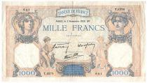 France 1000 Francs Cérès et Mercure - 03-11-1938 Série T.5270 - TTB