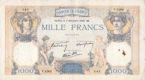 France 1000 Francs Cérès et Mercure - 03-11-1938 Série T.5362 - TB