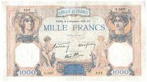 France 1000 Francs Cérès et Mercure - 03-11-1938 Série X.5427 - TB