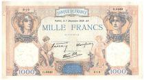 France 1000 Francs Cérès et Mercure - 07-12-1939 Série G.8449 - TTB