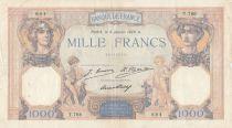 France 1000 Francs Cérès et Mercure - 08-01-1929 Série T.766 - p.TB