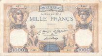 France 1000 Francs Cérès et Mercure - 08-08-1927 Série F.443 - TB+