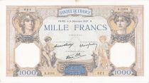 France 1000 Francs Cérès et Mercure - 09/12/1937 Série A3101 - 621