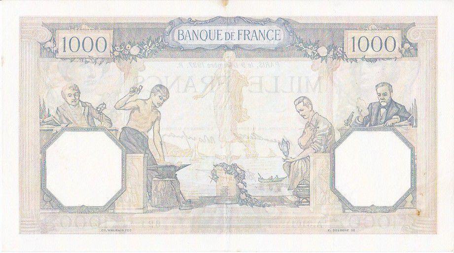 France 1000 Francs Cérès et Mercure - 09/12/1937 Série A3101 - 621