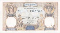 France 1000 Francs Cérès et Mercure - 09/12/1937 Série X3095