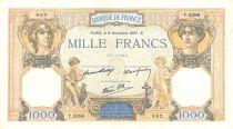 France 1000 Francs Cérès et Mercure - 09/12/1937 Série Y3086