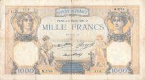 France 1000 Francs Cérès et Mercure - 11-02-1937 Série M.2738 - TB