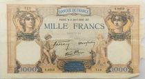France 1000 Francs Cérès et Mercure - 11-04-1940 Série A.9252 - B+