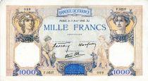 France 1000 Francs Cérès et Mercure - 11/04/1940 Série F.9237 - TTB