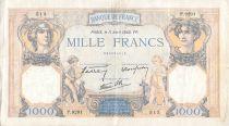 France 1000 Francs Cérès et Mercure - 11-04-1940 Série P.9291 - TB+