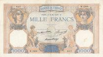 France 1000 Francs Cérès et Mercure - 13-05-1937 Série W.2890 - TTB