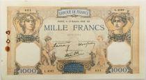 France 1000 Francs Cérès et Mercure - 13-10-1938 Série L.4082 - TTB