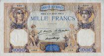 France 1000 Francs Cérès et Mercure - 14-01-1930 Série J.813 - TTB