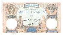 France 1000 Francs Cérès et Mercure - 15-07-1937 Série C.2994 - TTB