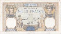 France 1000 Francs Cérès et Mercure - 15/07/1937 Série V2989
