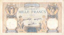 France 1000 Francs Cérès et Mercure - 16-12-1937 Série P.3130 - TB+