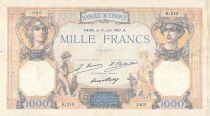 France 1000 Francs Cérès et Mercure - 17-06-1927 Série K.313 - TB+