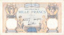 France 1000 Francs Cérès et Mercure - 18-01-1940 Série K.8719 - TB+