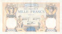 France 1000 Francs Cérès et Mercure - 18-01-1940 Série L.8621 - TTB