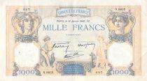 France 1000 Francs Cérès et Mercure - 18-01-1940 Série N.8652 - TB+