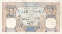 France 1000 Francs Cérès et Mercure - 18-04-1940 Série Z.9482 - TTB
