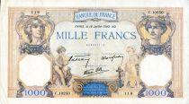 France 1000 Francs Cérès et Mercure - 18/07/1940 Série C.10250 - TTB