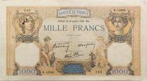 France 1000 Francs Cérès et Mercure - 18-07-1940 Série K.10280 - TTB
