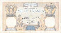 France 1000 Francs Cérès et Mercure - 18-07-1940 Série T.10481 - PTTB