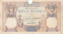 France 1000 Francs Cérès et Mercure - 18-08-1927 Série C.467 - B+