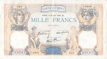 France 1000 Francs Cérès et Mercure - 20-06-1940 Série C.10031 - PTTB