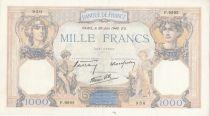 France 1000 Francs Cérès et Mercure - 20-06-1940 Série F.9992 - TTB