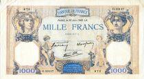 France 1000 Francs Cérès et Mercure - 20/06/1940 Série O.10117-872 - TTB