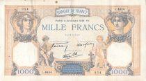 France 1000 Francs Cérès et Mercure - 20-10-1938 Série L.4654 - PTTB