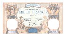 France 1000 Francs Cérès et Mercure - 20-10-1938 Série M.4451 - SUP