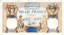 France 1000 Francs Cérès et Mercure - 20/10/1938 Série P.4439 - TTB