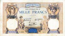 France 1000 Francs Cérès et Mercure - 20/10/1938 Série R.4505 - TTB