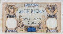 France 1000 Francs Cérès et Mercure - 20-10-1938 Série U.4277 - TB+