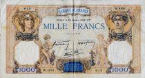 France 1000 Francs Cérès et Mercure - 20-10-1938 Série W.4591 - TTB