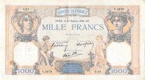 France 1000 Francs Cérès et Mercure - 20-10-1938 Série Y.4678 - PTTB