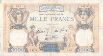 France 1000 Francs Cérès et Mercure - 20-10-1938 Série Z.4273 - TB+