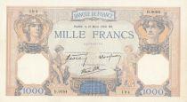 France 1000 Francs Cérès et Mercure - 21-03-1940 Série D.9054 - SUP