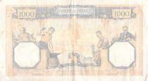 France 1000 Francs Cérès et Mercure - 21-03-1940 Série R.9123 - PTTB