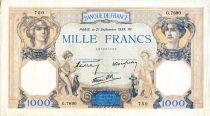 France 1000 Francs Cérès et Mercure - 21/09/1939 Série G.7890 - TTB