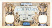 France 1000 Francs Cérès et Mercure - 21/09/1939 Série M.7953 - TTB