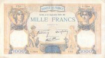 France 1000 Francs Cérès et Mercure - 21-09-1939 Série Y.7534 - TTB